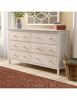 Dufrene 6 Drawer Double Dresser by Highland Dunes