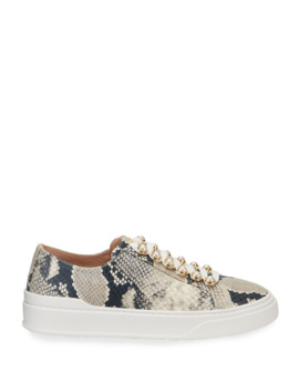 Excelsa Snake Print Sneakers by Stuart Weitzman