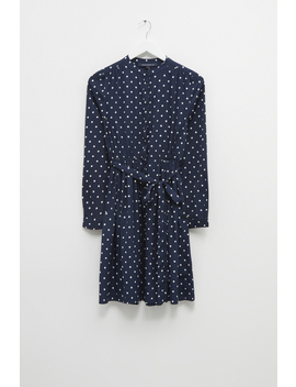 Polka Dot Crepe Belted Dress by French Connection