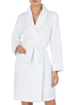 Long Sleeve Herringbone Robe by Lauren Ralph Lauren