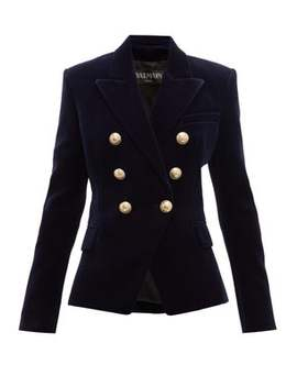 Double Breasted Velvet Blazer by Balmain