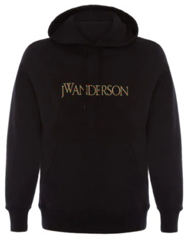 Embroidered Logo Hoodie by Jw Anderson