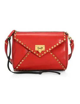 Medium Rockstud Hype Leather Shoulder Bag by Valentino Garavani