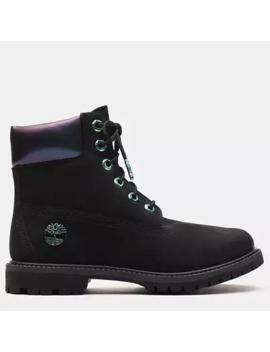 6 Inch Iridescent Premium Boot For Women In Black by Timberland