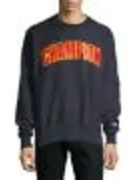 Embroidered Cotton Sweater by Champion Reverse Weave