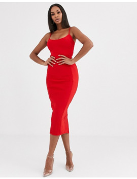 Missguided Cross Front Bandage Cami Midaxi Dress In Red by Missguided's