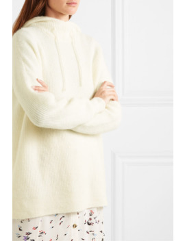 Ribbed Knit Hoodie by Ganni