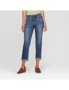 Women's Relaxed Fit High Rise Cropped Straight Jeans   Universal Thread™ Medium Wash by Universal Thread