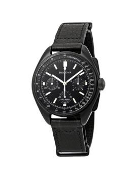 Special Edition Lunar Pilot Chronograph Black Dial Men's Watch by Bulova