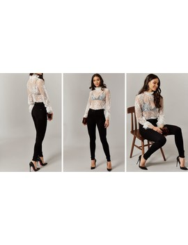 Black High Waist Skinny Fit Jeans by Only