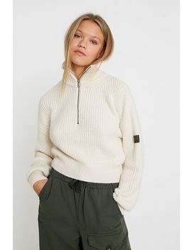Uo Quarter Zip Fisherman Jumper by Urban Outfitters