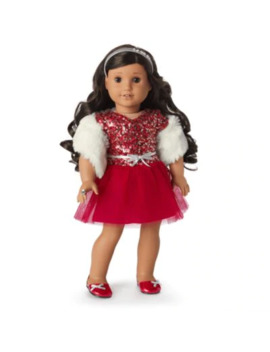 Decked Out Holiday Dress For 18 Inch Dolls by American Girl