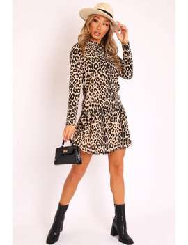 Leopard Smock Detail Dress   Clema by Rebellious Fashion
