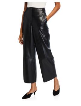 Africa Vegan Leather Pants by Nanushka