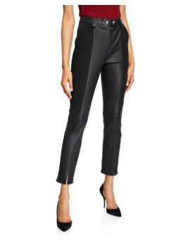 Devin Leather Combo Skinny Pants by A.L.C.