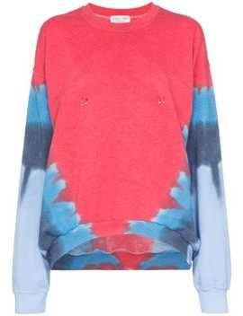 Pierced Contrast Print Sweatshirt by Collina Strada