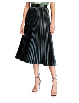 Sue Pleated A Line Midi Skirt by Elie Tahari