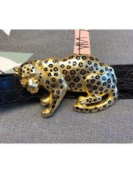 Vintage 1990s Gold Tone Rhinestone Enameled Statement Leopard Belt Buckle And Leather Belt By Doreen Ryan 90s Designer Belt Buckle Retro by Etsy