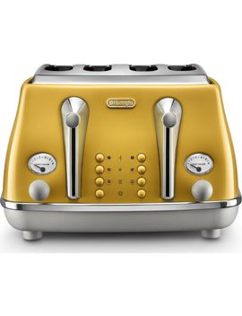 Icona Capitals Ctoc4003.Y 4 Slice Toaster   Yellow by Currys