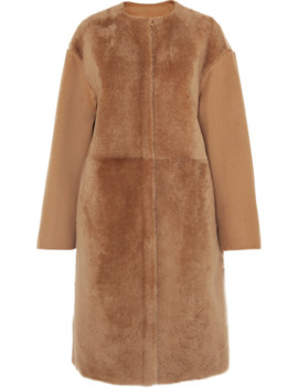 Wool And Cashmere Blend And Shearling Coat by Yves Salomon