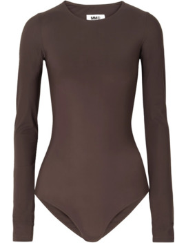 Stretch Jersey Bodysuit by Mm6 Maison Margiela