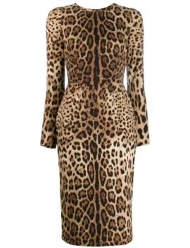 Kleid Mit Print by Dolce & Gabbana