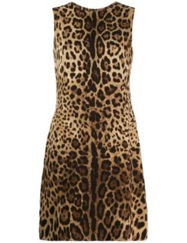 Kleid Mit Leopardenmuster by Dolce & Gabbana