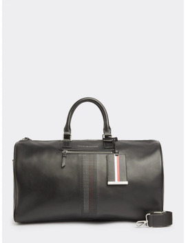 Business Leather Duffel Bag by Tommy Hilfiger