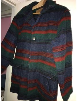 Woolrich Women Southwest Indian Aztec Blanket Wool Coat Jacket Usa Made Small by Indian