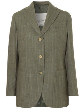 Andrea Pinstriped Wool Blazer by Giuliva Heritage Collection