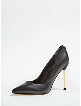 Odela Glitter Leather Court Shoe by Guess