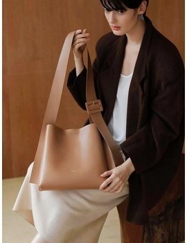 Arc Small Bucket Bag  Artificial Leather Camel by Lecc Project