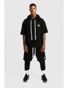 Man Aesthetics Oversized Heavy Weight 3/4 Hoodie by Boohoo Man