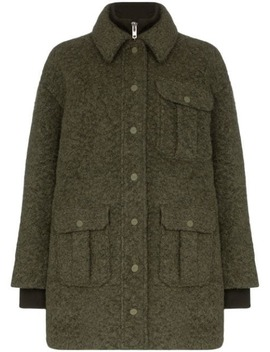 Double Layered Utility Pocket Coat by Ganni