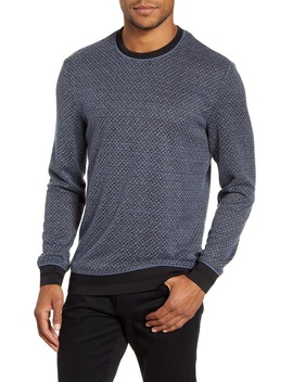 Slim Fit Diamond Textured Crewneck Sweater by Vince Camuto