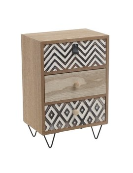 Penny 3 Drawer Bedside Table by World Menagerie