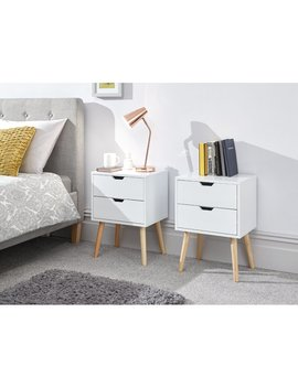 Kiana 2 Drawer Bedside Table by Norden Home