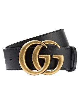 Black Gg Logo Size 105 Belt by Gucci