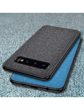 Luxury Fabric Cloth Phone Case For Samsung Galaxy S10 5 G S10e S9 S8 Plus S7 Edge Slim Soft Bumper Hard Pc Back Skin Cover Coque by Ali Express.Com