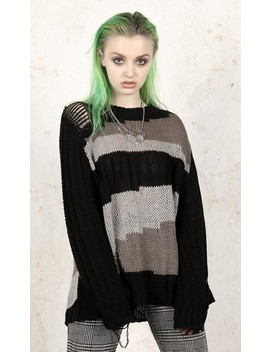 Vacant Knit Jumper by Disturbia