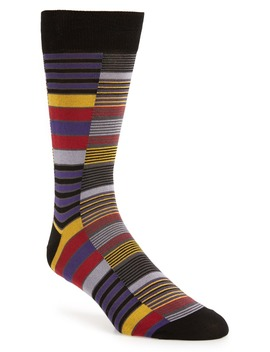 Stripe Block Socks by Pantherella
