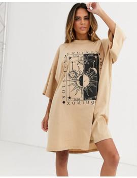 Asos Design Graphic Print T Shirt Dress by Asos Design