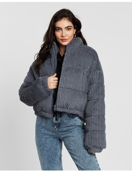 Fluffy Cord Puffer Jacket by Bdg By Urban Outfitters