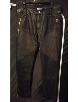 Bnwt H&M Collab Leather Biker Pants by Versace  ×  H&M  ×