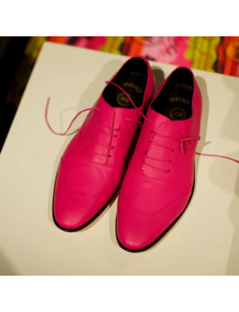 Hot Pink Dress Shoes by Versace  ×  H&M  ×