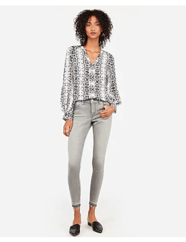 Snakeskin Print Chelsea Popover by Express