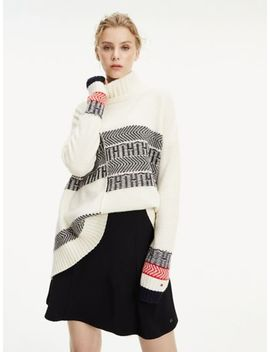 Asymmetrical Turtleneck Sweater by Tommy Hilfiger