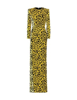 Cole Leopard Print Velvet Gown by Alex Perry