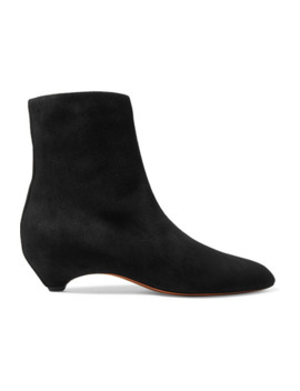 45 Suede Ankle Boots by Alaïa