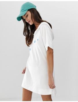 Polo Ralph Lauren – Terry – Weißes Strandkleid Mit Kapuze by Asos